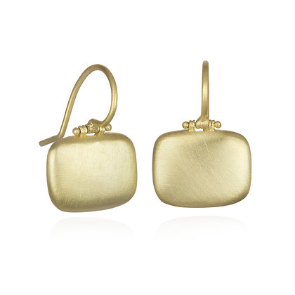 Hinged Matte Chiclet Earrings