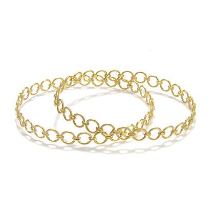 Diamond Chain Link Bangle
