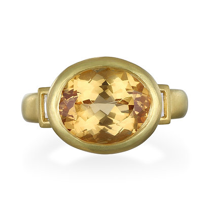 Imperial Topaz Three-Stone Ring