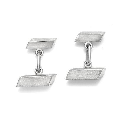 Sterling Silver Trapezoid Cufflinks