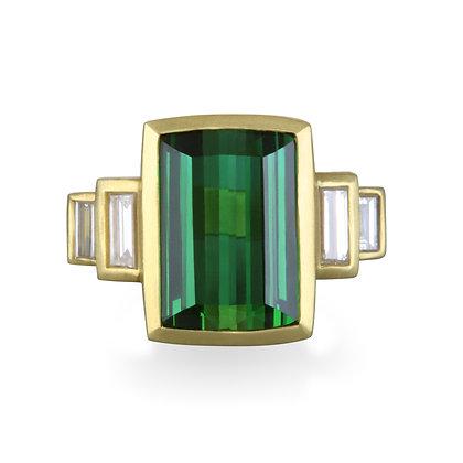 Tourmaline Baguette Ring