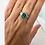 Thumbnail: Platinum Blue Green Tourmaline Ring