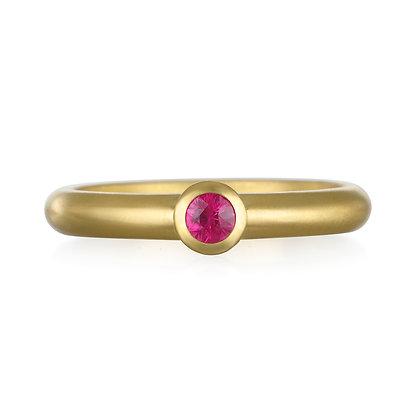 Hot Pink Tourmaline Stack Ring