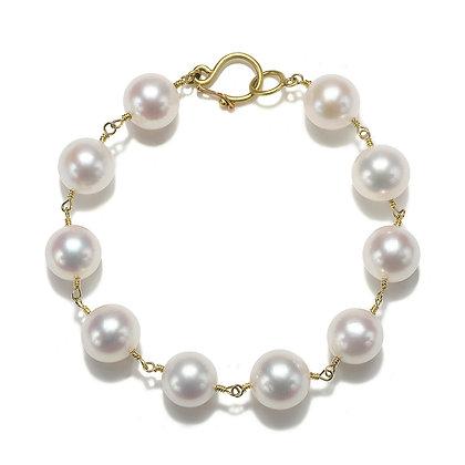 Handwrapped Freshwater Pearl Bracelet