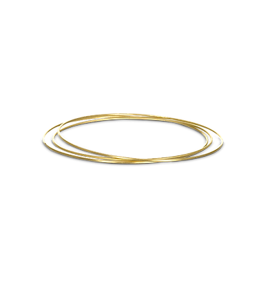 Set of 3 Wire Bangles