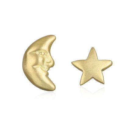 Moon & Star Studs