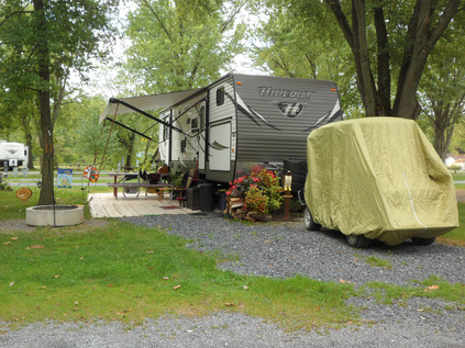 RV on campsite