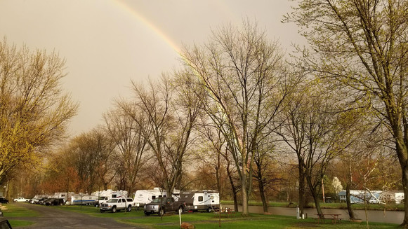 Rainbow Over Campground