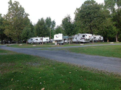 RVs on Campsites