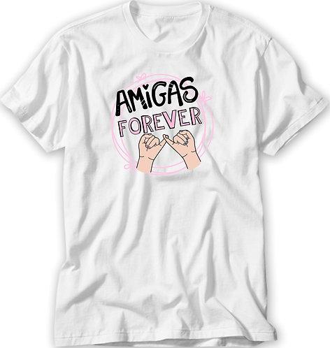 Camiseta Amigas Forever Dedinhos
