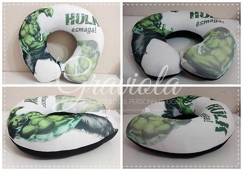 Almofada de Pescoço - Hulk esmaga