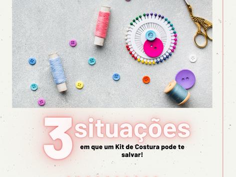 3 Situações em que um Kit de Costura pode te salvar