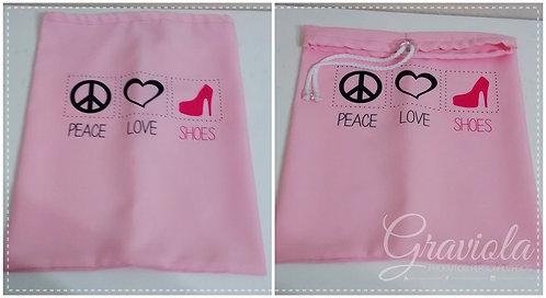 Saco Organizador -Peace Love Shoes