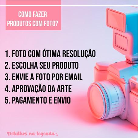 Como fazer produtos com foto