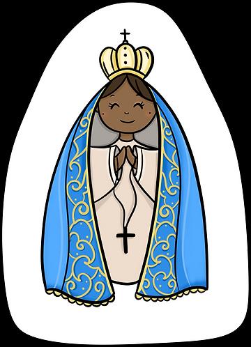 Mini Almofada Colorir Nossa Senhora Aparecida