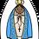 Thumbnail: Mini Almofada Colorir Nossa Senhora Aparecida