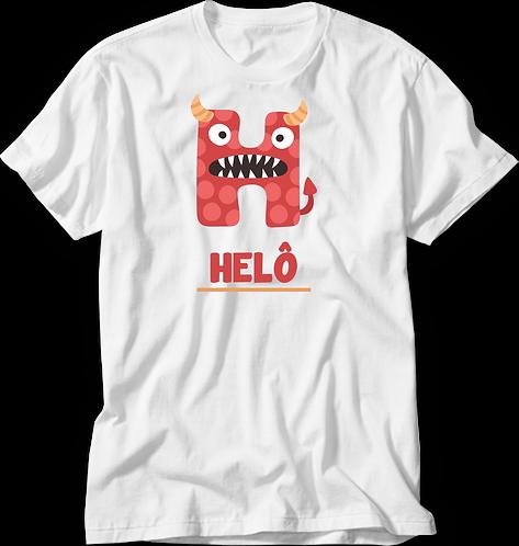 Camiseta Inicial Infantil Monstrinhos