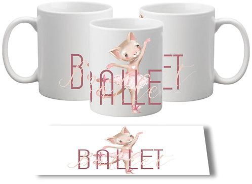 Caneca Ballet Bichinhos