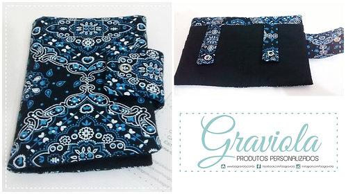 Carteira Lisi - Bandana Azul + Preto