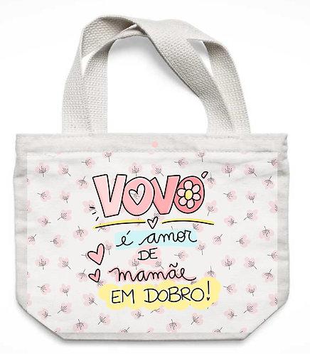 Ecobag Vovó é Amor de Mamãe em Dobro