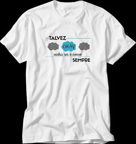Camiseta A Culpa é das Estrelas Talvez Okay