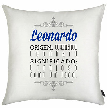Almofada Significado Nome - Leonardo