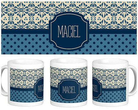 Canecas Diversas - Azulejo + Bolinhas