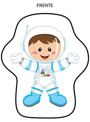 Mini Almofada Formato Astronauta Menino