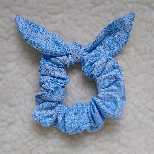 Scrunchie Orelhinhas - Poeira Azul