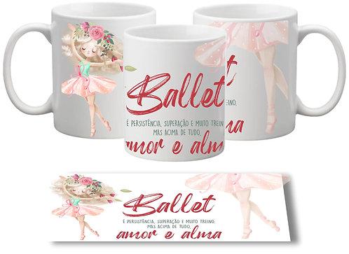 Caneca Ballet Amor e Alma