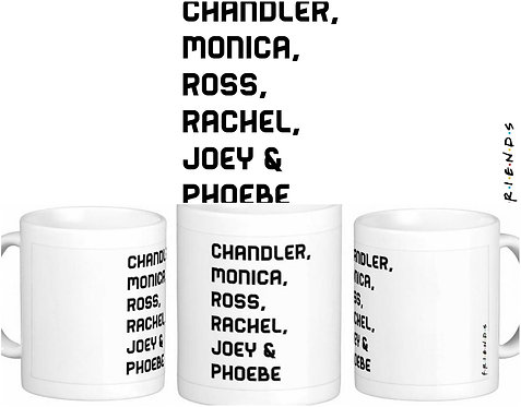 Caneca FRIENDS - Personagens