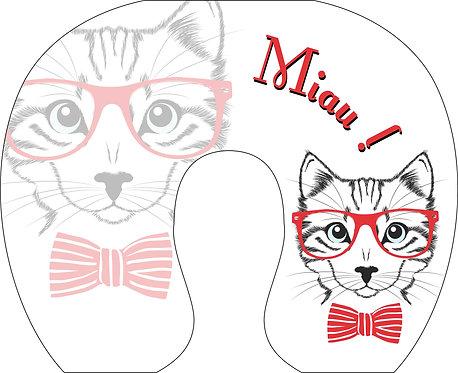 Almofada de Pescoço - Gatinho Hipster