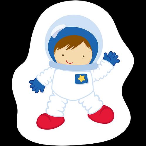 Mini Almofada Colorir Astronauta Menino
