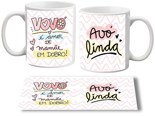 Caneca Mamãe em Dobro + Avó Linda