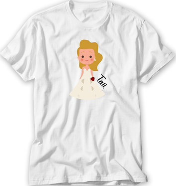 Camiseta Casamento/ Chá Bar - Noivinha
