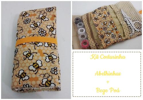 Kit Costurinha - Abelhas + bege Poá