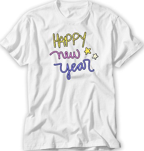 Camiseta Happy New Year Color
