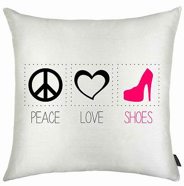 Almofadas Diversas - Peace | Love | Shoes