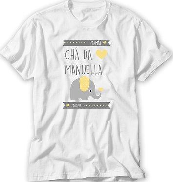 Camiseta Chá de Bebê - Elefante