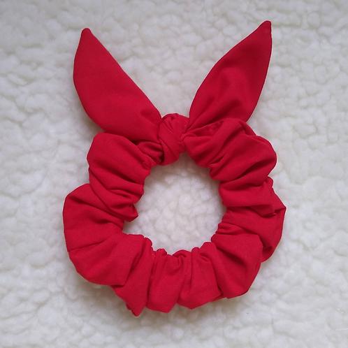 Scrunchie Orelhinhas - Vermelho Liso