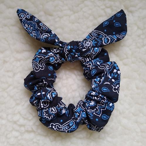 Scrunchie Orelhinhas - Bandana Azul