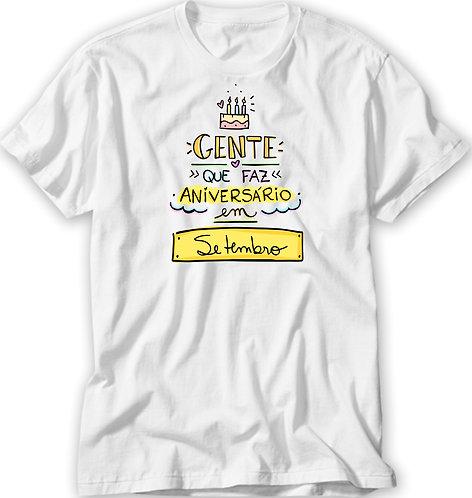 Camiseta Gente que Faz Aniversário