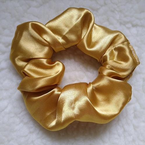 Scrunchie Cetim Liso - Dourado