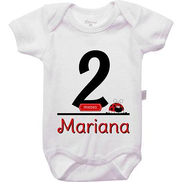 Mêsversário - Joaninha III - 2 meses