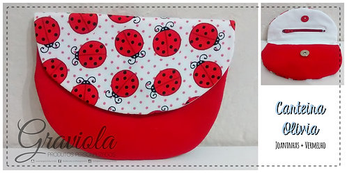 Carteira Olívia - Vermelho + Joaninhas