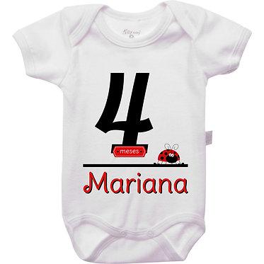 Mêsversário - Joaninha III - 4 meses