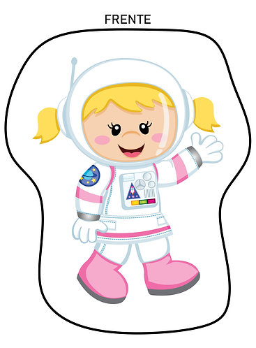 Mini Almofada Formato Astronauta Menina