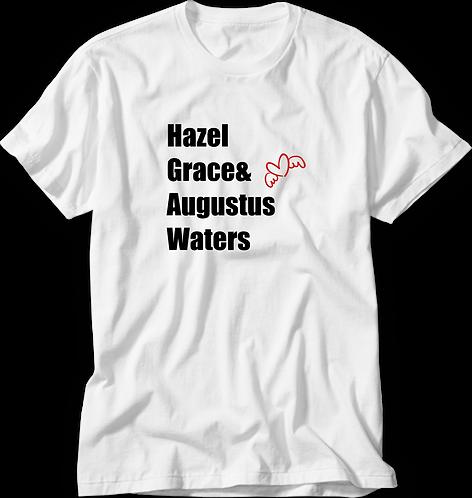 Camiseta A Culpa é das Estrelas Hazel Grace & Augustus Waters