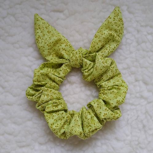 Scrunchie Orelhinhas - Folhagem Verde