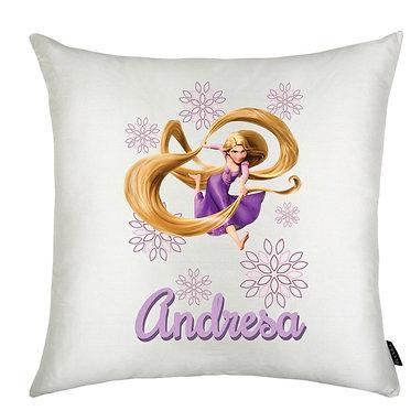 Almofada Rapunzel Flores com nome
